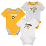 Pittsburgh Penguins Newborn 3rd Period 3-Piece Creeper Set by Outerstuff