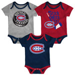 Montreal Canadiens Newborn Future Legend Long Sleeve Creeper, Pant, and Hat Set by Outerstuff