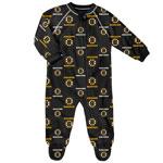 Boston Bruins Newborn All Over Print Raglan Sleeper by Outerstuff