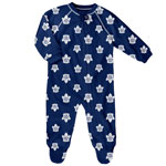 Toronto Maple Leafs Newborn All Over Print Raglan Sleeper by Outerstuff