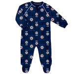 Winnipeg Jets Infant All Over Print Raglan Sleeper by Outerstuff