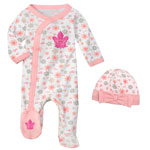 Toronto Maple Leafs Newborn Girls Sunday Best Coverall & Hat Set by Outerstuff
