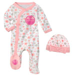 Edmonton Oilers Newborn Girls Sunday Best Coverall & Hat Set by Outerstuff