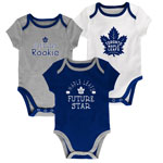 Toronto Maple Leafs Newborn Assist 3-Piece Creeper Set by Outerstuff