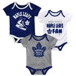 Toronto Maple Leafs Newborn Even Strength 3-Piece Creeper Set by Outerstuff