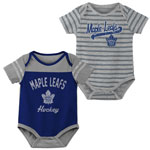 Toronto Maple Leafs Newborn Dual Action 2-Piece Creeper Set by Outerstuff