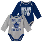 Toronto Maple Leafs Newborn Top Faves 2-Piece Long Sleeve Creeper Set by Outerstuff