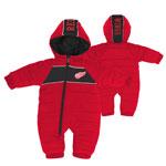 Detroit Red Wings Newborn Puck Drop Puffer Bodysuit by Outerstuff