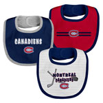 Montreal Canadiens Newborn Fair Shot 3-Pack Bib Set by Outerstuff