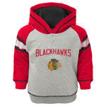 Chicago Blackhawks Toddler Classic Stripe Pullover Fleece Hoodie by Outerstuff