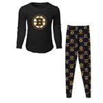 Boston Bruins Preschool Long Sleeve T-Shirt & Pants Sleep Set by Outerstuff