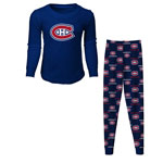 Montreal Canadiens Youth Long Sleeve T-Shirt & Pants Sleep Set by Outerstuff