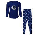 Vancouver Canucks Preschool Long Sleeve T-Shirt & Pants Sleep Set by Outerstuff