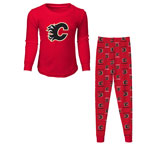 Calgary Flames Youth Long Sleeve T-Shirt & Pants Sleep Set by Outerstuff