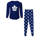 Toronto Maple Leafs Youth Long Sleeve T-Shirt & Pants Sleep Set by Outerstuff