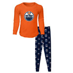 Edmonton Oilers Youth Long Sleeve T-Shirt & Pants Sleep Set by Outerstuff