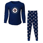 Winnipeg Jets Toddler Long Sleeve T-Shirt & Pants Sleep Set by Outerstuff