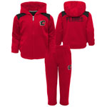 Calgary Flames Toddler Catcher Performance Zip-Up Hooded Jacket & Pant Set by Outerstuff