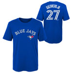 Vladimir Guerrero Jr. Toronto Blue Jays Youth Player Name and Number T-Shirt by Outerstuff