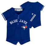 Toronto Blue Jays Newborn Cool Base Alternate Jersey Romper by Majestic