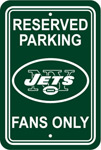 Fremont Die New York Jets Plastic Reserved Parking Sign