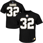 Franco Harris Pittsburgh Steelers Eligible Receiver II Name and Number T-Shirt by Majestic
