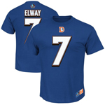 John Elway Denver Broncos Eligible Receiver II Name and Number T-Shirt by Majestic