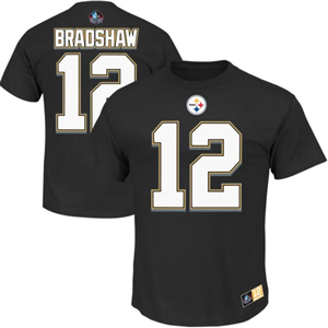 71af63fa7 TheSportsDen.ca  Terry Bradshaw Pittsburgh Steelers Eligible Receiver II  Name and Number T-Shirt by Majestic