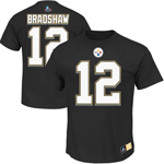 Terry Bradshaw Pittsburgh Steelers Eligible Receiver II Name and Number T-Shirt by Majestic