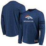 Denver Broncos Flex Double Stripe Long Sleeve T-Shirt by Majestic