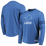 Detroit Lions Flex Double Stripe Long Sleeve T-Shirt by Majestic