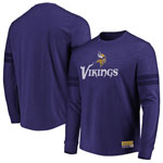 Minnesota Vikings Flex Double Stripe Long Sleeve T-Shirt by Majestic