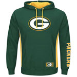 Green Bay Packers Passing Game IV Pullover Fleece Hoodie by Majestic