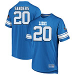 Barry Sanders Detroit Lions Hall of Fame Hashmark Jersey Shirt by Majestic
