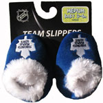 Toronto Maple Leafs Baby Bootie Slippers by Forever Collectibles