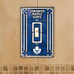 Toronto Maple Leafs Single Art Glass Light Switch Plate Cover by The Memory Company