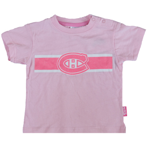 detailed look 0ca98 e979a Mighty Mac Montreal Canadiens Infant Girls Pink Glitter Team Logo T-Shirt