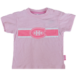Mighty Mac Montreal Canadiens Infant Girls Pink Glitter Team Logo T-Shirt