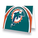 Hunter Manufacturing Miami Dolphins Greeting Card
