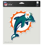 Wincraft Miami Dolphins 8''x8'' Color Die Cut Decal