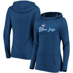 Toronto Blue Jays Women's Winning Side Lightweight Tri-Blend Cowl Hoodie by Majestic
