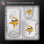Hunter Manufacturing Minnesota Vikings Drinkware Fan Pack - Set of 3