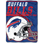 Buffalo Bills 46''x60'' Micro Raschel Super Plush Throw Blanket by Northwest