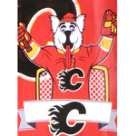 Calgary Flames Mascot Harvey the Hound 46''x60'' Super Plush Micro Raschel Throw Blanket by Northwes