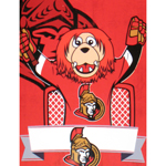 Ottawa Senators Mascot Spartacat 46''x60'' Super Plush Micro Raschel Throw Blanket by Northwest
