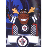 Winnipeg Jets Mascot Mick E. Moose 46''x60'' Super Plush Micro Raschel Throw Blanket by Northwest