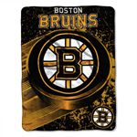 Boston Bruins 46''x60'' Micro Raschel Super Plush Throw Blanket by Northwest