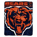 Chicago Bears 46''x60'' Micro Raschel Plush Throw Blanket by Northwest