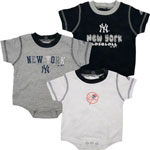 Adidas New York Yankees Newborn 3-Piece Creeper Set
