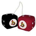 Fremont Die Ottawa Senators Fuzzy Dice